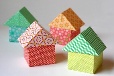 Схема сборки домика оригами