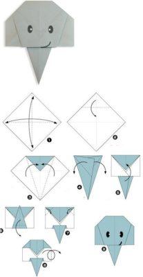 Схема сборки оригами для детей мордочка слона