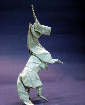 Схема сборки оригами единорог