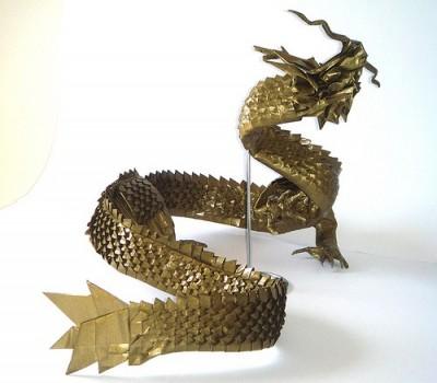 Сложный дракон оригами видео