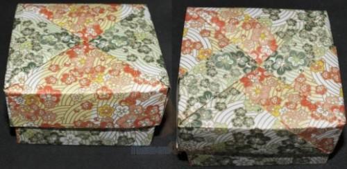 Сувенирная коробка оригами с кришкой