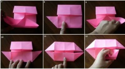 Схема сборки рамка оригами 7-12