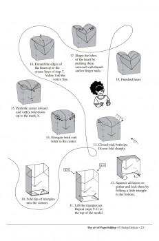 Диаграмма сборки оригами сердечко