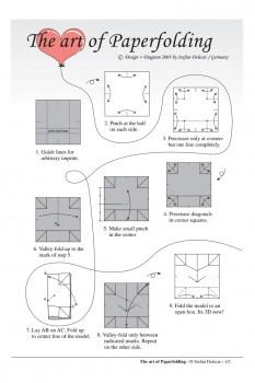 Диаграмма сборки сердечка оригами