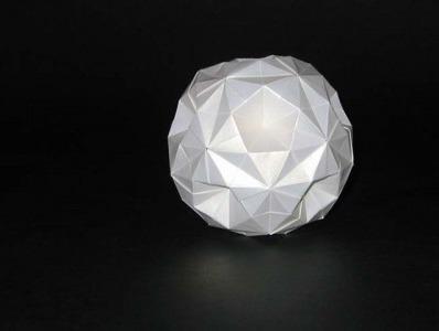 Кусудама супер-шар оригами за схемой Девида Бриля