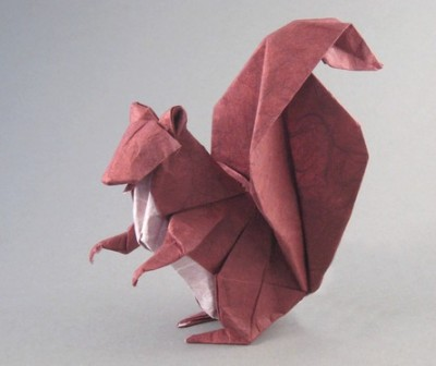 Оригами белка мастер класс
