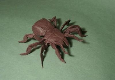 Оригами из бумаги паук