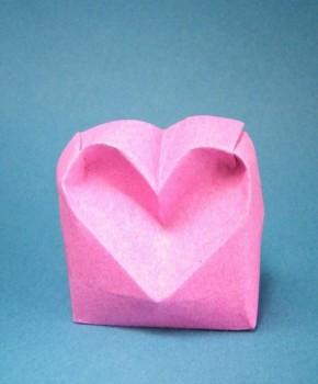 Оригами из бумаги сердечко за схемой Stefan Delecat