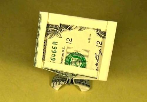 Оригами из денег - Модель телевизора за схемой Jeremy Shafer