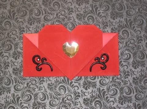 Оригами конверт за схемой Эрика Штранда