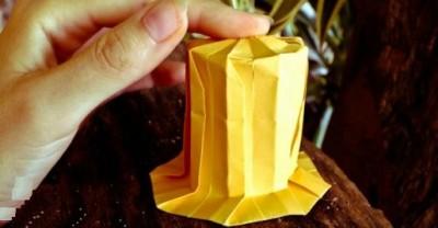 Шляпа оригами схема