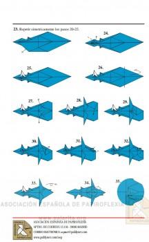 Схема сборки акула оригами