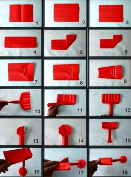 Схема сборки оригами поток краски из бумаги