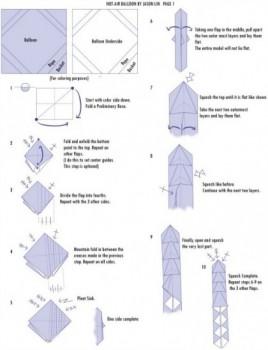 Схема сборки шар оригами
