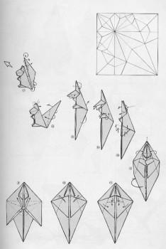 Схема складывания белочка оригами