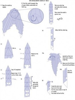 Схема складывания шар оригами