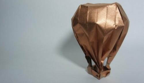 Воздушный шар оригами за схемой Jason Lin