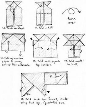 Бурый Медведь оригами схема сборки