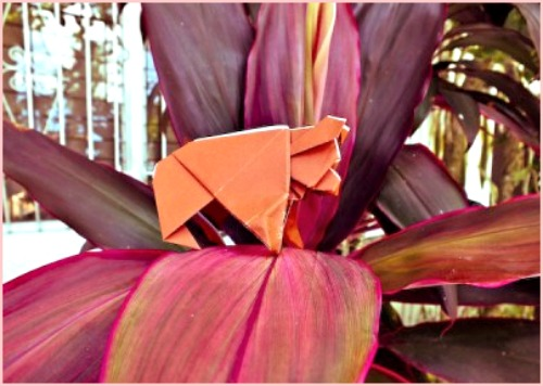 Бурый медведь оригами