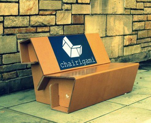 Chairigami удобная и легкая мебель из гофрированного картона