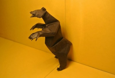 Как сложить Оригами Медвежонок мастер класс