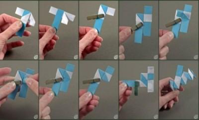 Как собрать браслет оригами