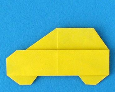 Как собрать машинку оригами