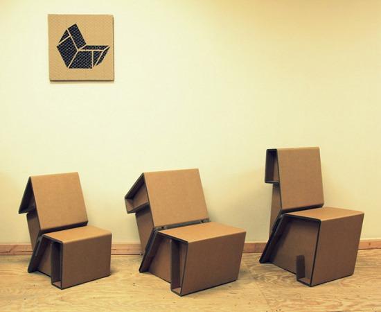 Картонная мебель Chairigami