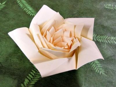 Лотос оригами схема