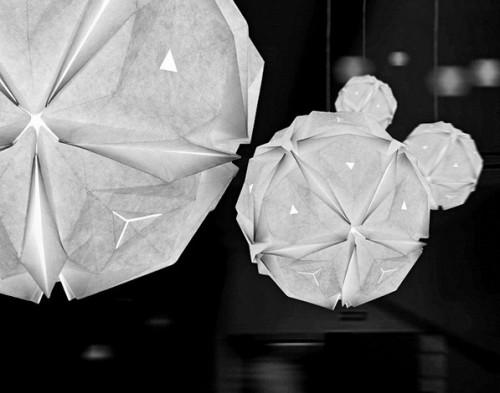 Необычные абажуры выполненные в стиле оригами Folded Light от Jiangmei Wu