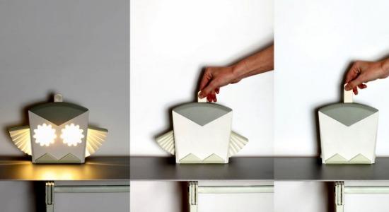 Ночники-раскладушки оригами от Чена Быковски