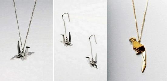 Origami Jewellery - украшения из золота и серебра в стиле оригами
