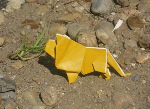 Оригами Лев Lion
