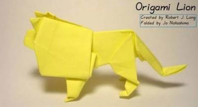 Оригами Лев (Lion) за схемой Robert J. Lang