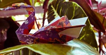 Оригами из бумаги лебедь мастер класс