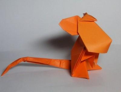Оригами из бумаги мышь