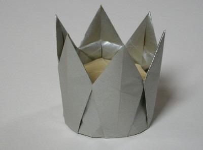 Оригами корона видео урок