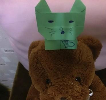 Оригами котик схема