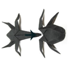 Оригами паук схема сборки