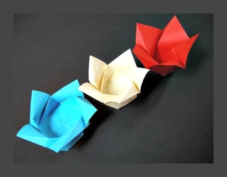 Оригами цветок лотоса за схемой M?lisande