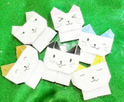 Оригами забавный Котик от DAISO