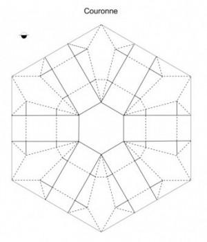 Паттерн сборки оригами корона