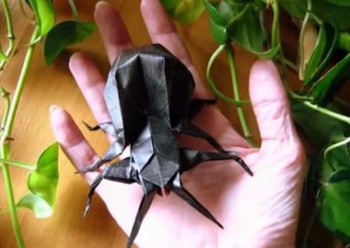 Паук оригами из двух модулей