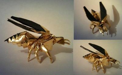 Пчела оригами схема сборки