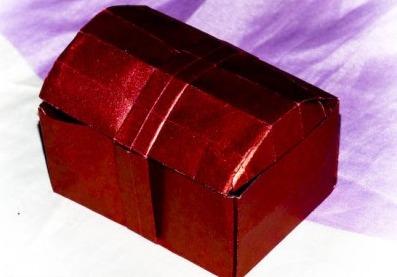 Шкатулка оригами схема