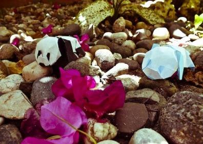 Схема оригами панда