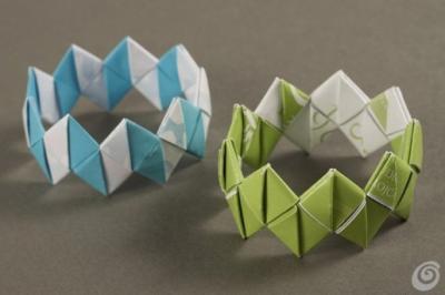Украшения оригами браслет