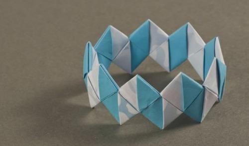 Украшения оригами браслет из модулей