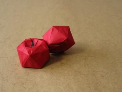 Яблоко оригами
