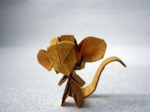Забавное оригами Обезьяна
